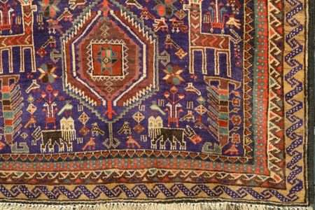I Also Have A Couple Of C.1980u0027s Afghan Balouch War Rugs That Have Lions,  With And Without Swords, A Classic Representation Of Aggression In Some  Soviet Era ...