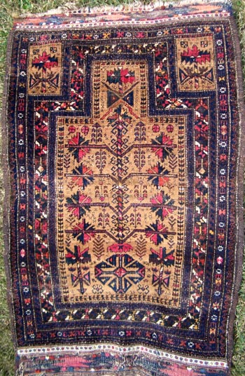 Could Have Been Used As A Real Prayer Carpet But There Is No Sign Of Wear Where The Feet Should Go I Ll Post Photo Worn Baluch