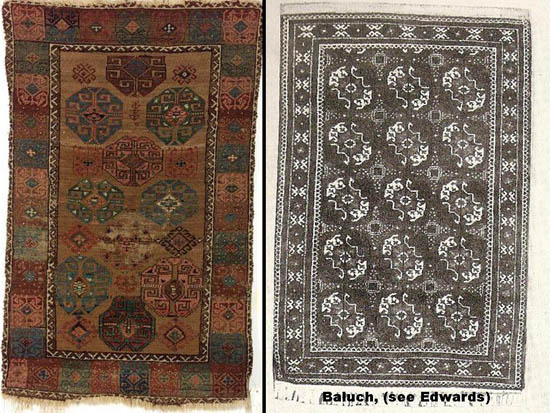 Well-Educated Vintage Small Afghan Belouch Mat C.1960 Antiques